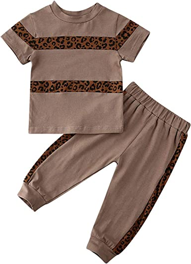 New Kids Baby Girl Outfit Set Clothes Long Sleeve T-shirt Top /& Pants Tracksuit