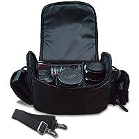 Large Digital Camera / Video Padded Carrying Bag / Case for Nikon D5100, D5200, D5300, D5500, D7000, D7100 Camera & More…