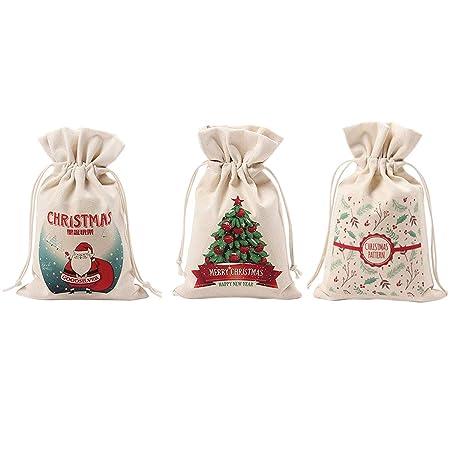 UK Christmas Sacks Reusable Drawstring Wrap Present Gift Party Bags Storage