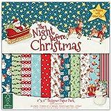 "Helz Cuppleditch 8 x 8 pollici FSC ""The Night Before Christmas"" pacchetto di carta"