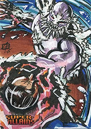 Dc Comics Super Villains Sketch Card By Jon Rademacher Of Doomsday At Amazon S Entertainment Collectibles Store
