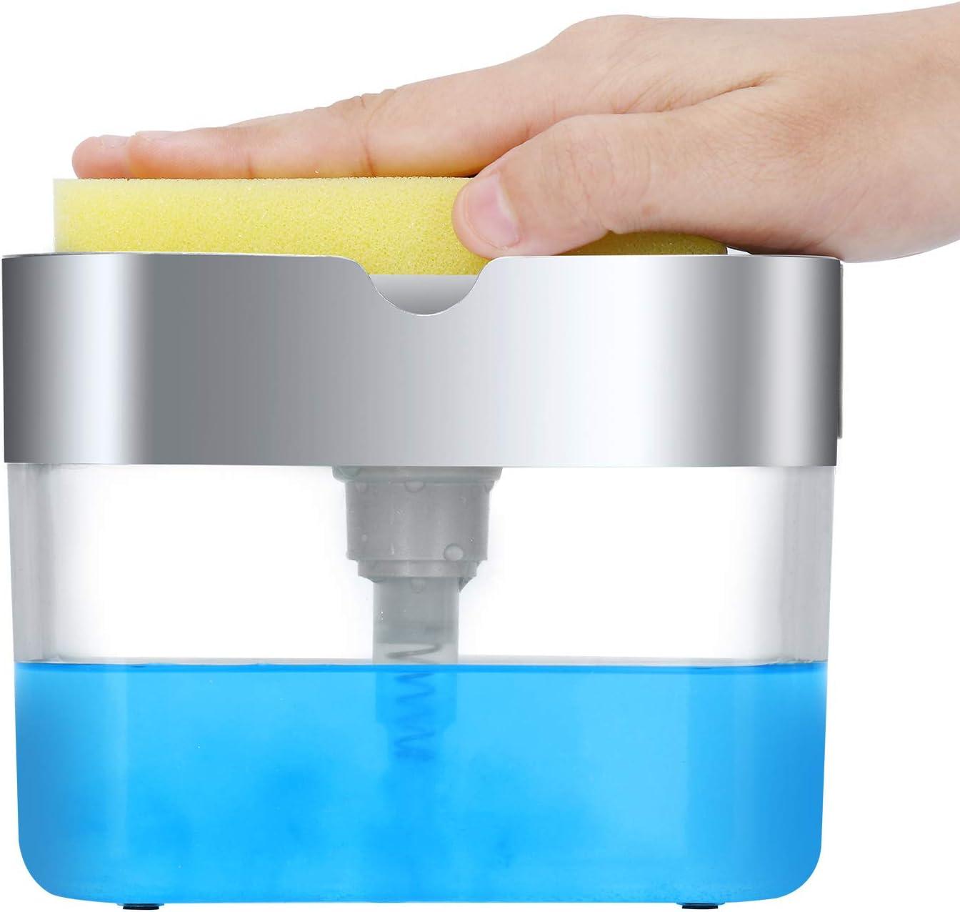 Dispenser de detergente 2 en 1 para esponja