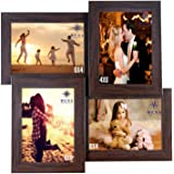 WENS 4-Picture MDF Photo Frame (13.5 inch x 13.5 inch, Brown, WS-4012)