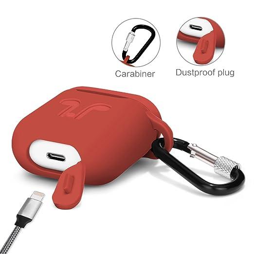 Likday ll061 Air Pods - Funda con Correa Protectora de Silicona con mosquetón para Apple Air Pods Accesorios, Color Azul: Amazon.es: Electrónica