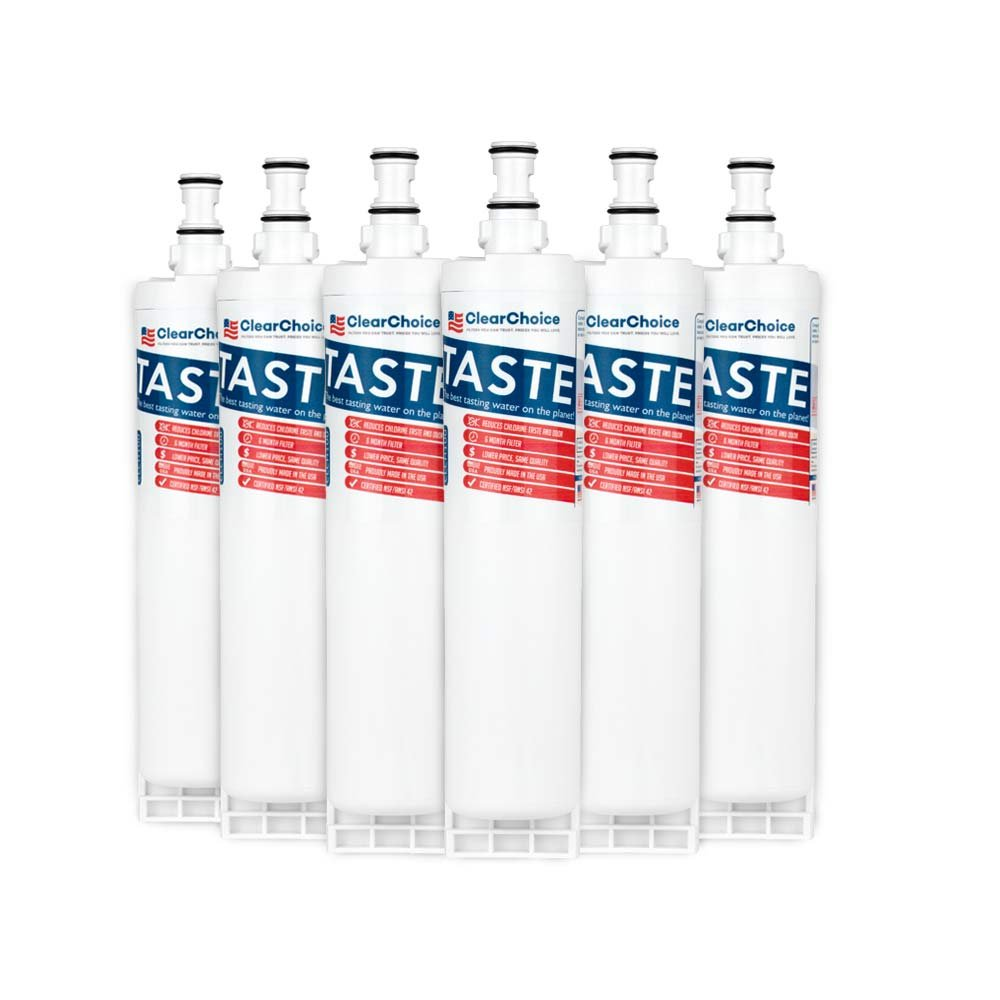 Clear Choice CLCH100 Replacement for Whirlpool 4396508 4396510 Refrigerator Water Filter Compatible with EDR5RXD1 EFF-6002A, NSF/ANSI 42 Certified, Box of 6, Made in the USA