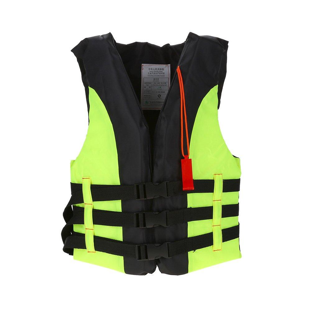 子供用クラシックシリーズベスト ライフジャケットタイプ 個人用浮き具 子供用安全スイムウェア ホイッスル付き グリーン Filfeelp091aikd6b-02 B07H85NVD4  グリーン