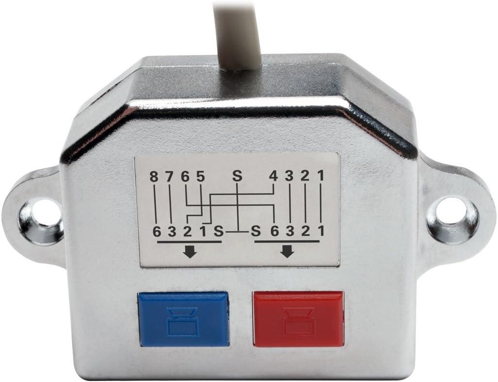 ZQ House 1 to 2 Socket LAN Ethernet Network CAT5 RJ45 Plug Splitter Adapter Cable Length 25cm Durable