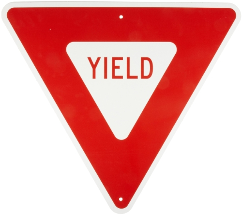 Brady 80072 B-959 Reflective Aluminum, Red On Reflective White Color Standard Traffic Signs, Legend