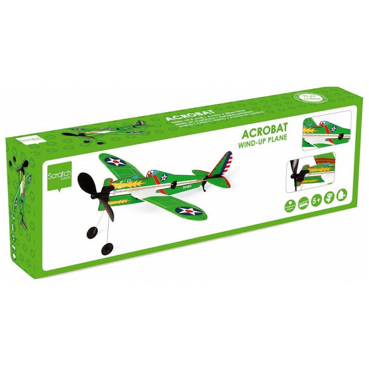 SCRATCH 6182513 Wind-up Flugzeug ARMY - 1 Stück