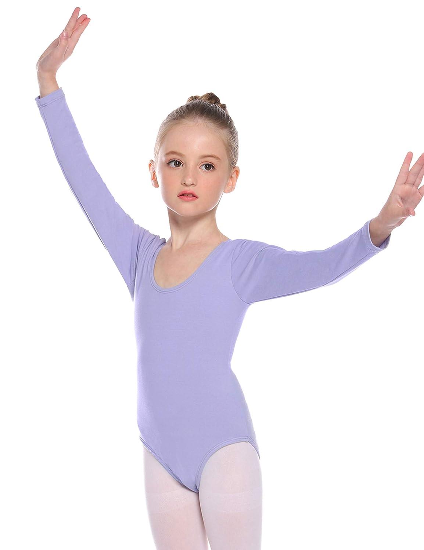 Hawiton Maillot de Gimnasia Ritmica niña 3-11 Años,algodón ...