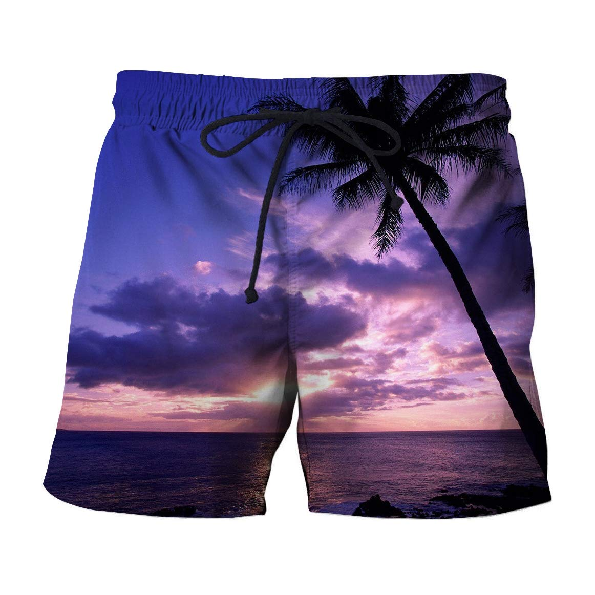 Zimaes-Men Casual Printed Hawaii Style Shorts Summer Beach Trousers