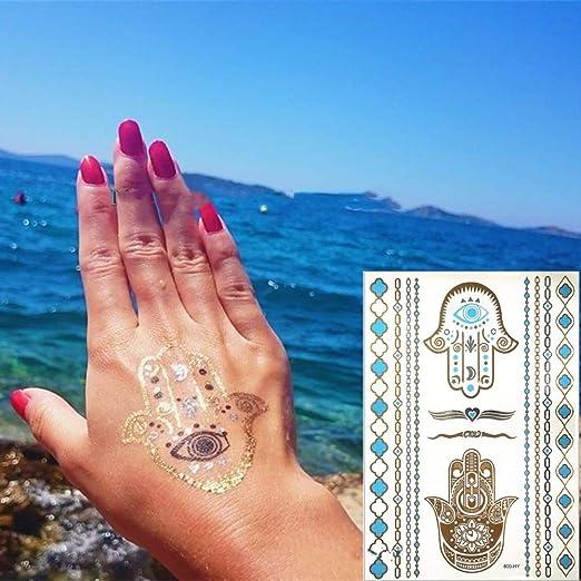 adgkitb 3 Piezas Tatuaje de Elefante Blanco Indio Ganesha pequeño ...