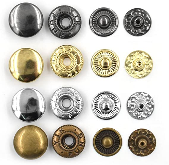30 Pcs 6x15 mm Gold tone Fasteners Clasps End Caps