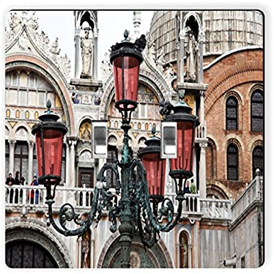 Rikki Knight 8951 Double Toggle St Mark's Square In Venice, Italy Design Light Switch Plate