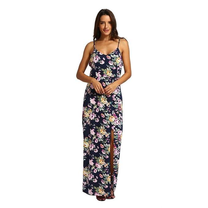 0eff4c021f Vestidos Largos Mujer STRIR Vestido de Fiesta Largo Sexy del Verano de  Mujeres Boho Vestido de