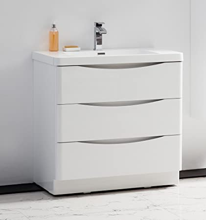 Astounding Golden Elite 34 Modena White Bathroom Vanity Bathroom Interior Design Ideas Pimpapslepicentreinfo