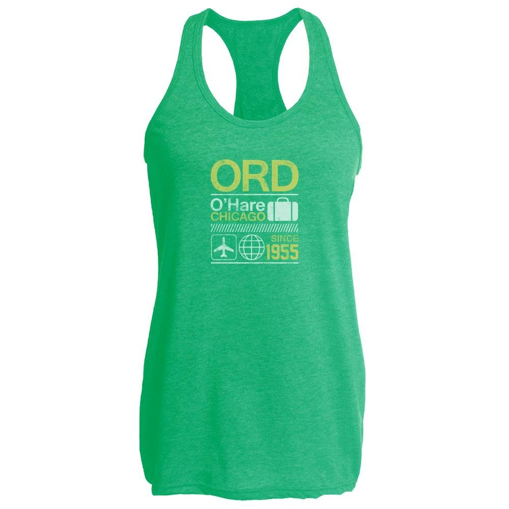 ORD O'Hare Chicago Airport Code Travel Heather Kelly M Womens Tank Top