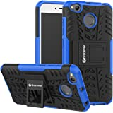 Bracevor Hybrid Kickstand Shockproof Back Case Cover for Xiaomi Redmi 4 (Blue)