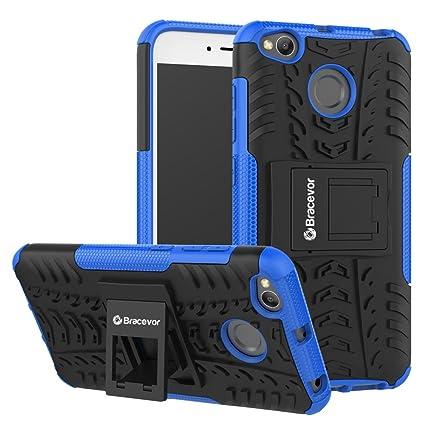quality design 64f61 9d090 Bracevor XRD4XDKSBU Back Case Cover with Kickstand for Xiaomi Redmi 4 (Blue)