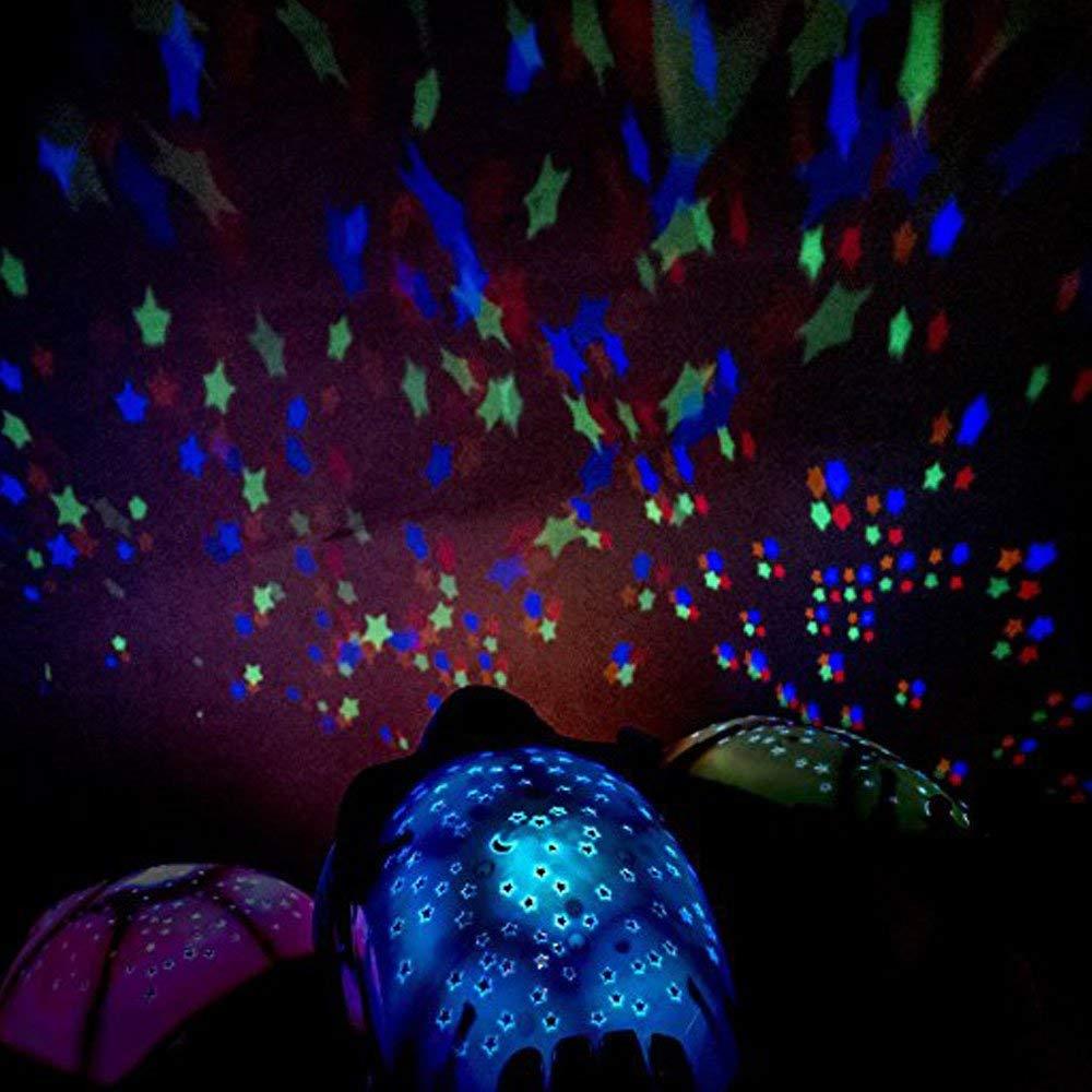 JIANGJIE Kreative Musik Schildkr/öte Projektion Sternenhimmel Schildkr/öte Schlafen Lampe Nachtlicht Musik Schildkr/öte Beleuchtung Urlaub Geschenke F/ür Kinder,Blue
