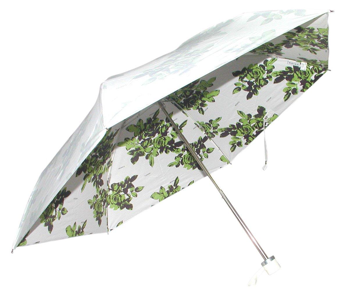東京丸惣 99% UVカット 軽くて涼しいミニ折傘 UVION PREMIUM WHITE 直径88cm シャドーローズ グリーン 3867GR B0073B76RY