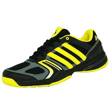 adidas Performance RALLY COURT OC Zapatillas Tenis Negro Amarillo Gris para Hombre Torsion System: Amazon.es: Deportes y aire libre