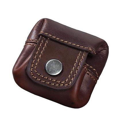 STILORD Varys Monedero de Cuero Mini Billetera Vintage de Cuero Slim Cambio de Monedas Cartera Pequeña Piel, Color:Cognac marrón Oscuro