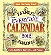 The Old Farmer's Almanac 2012 Everyday Calendar