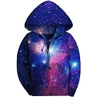 SAYM Girls' Galaxy Jackets Fleece Full Zip Hooded Hoodie
