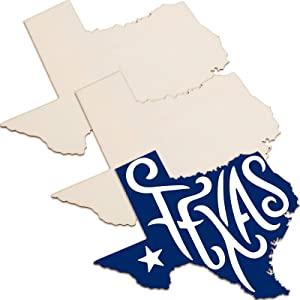 3 Pieces Texas State Unfinished Wood Cutouts Texas State Wood Slices Texas State Wooden Paint Crafts Texas State Wooden Pieces for Home Decor Ornament DIY Craft Art Project