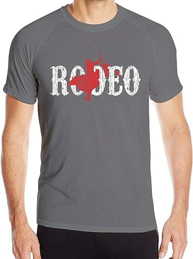 UKFaaa Western Country Cowboy - Camiseta Deportiva para Hombre, Ajuste seco, Absorbe la Humedad, Color Negro: Amazon.es: Ropa y accesorios