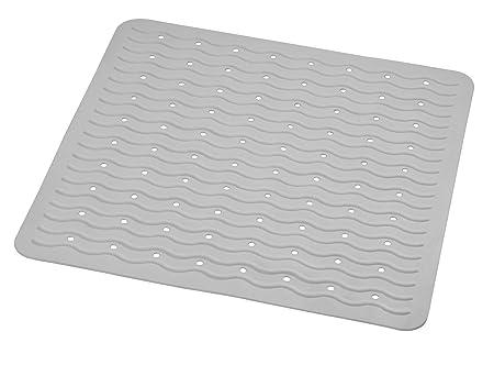 Ridder Anti Slip Shower Mat 100 Synthetic Rubber Grey 54 X 54