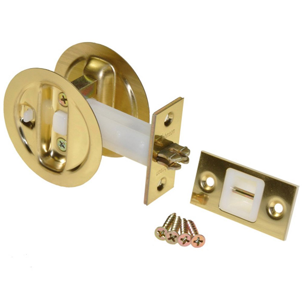 Johnson Hardware Brass Pocket Door Privacy Lock