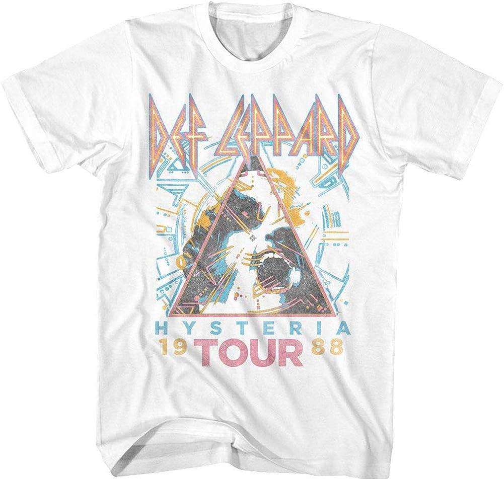 Def Leppard 1980s Heavy Hair Metal Band Rock & Roll Hysteria '88 Adult T-Shirt