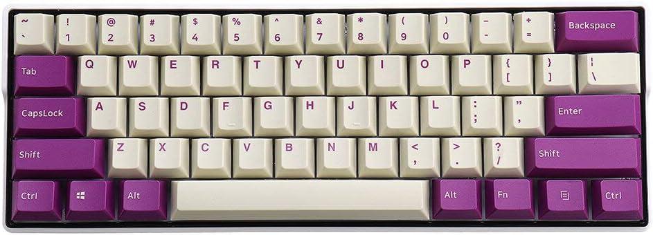 108 llaves color morado claro OEM Profile PBT Keycaps para ...