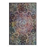 Mohawk Home Prismatic Joliet Multicolored Boho Medallion Precision Printed Area Rug, 5'x8′, Rainbow Review