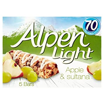 Amazon alpen light cereal bars apple sultana 5x19g pack alpen light cereal bars apple sultana 5x19g pack aloadofball
