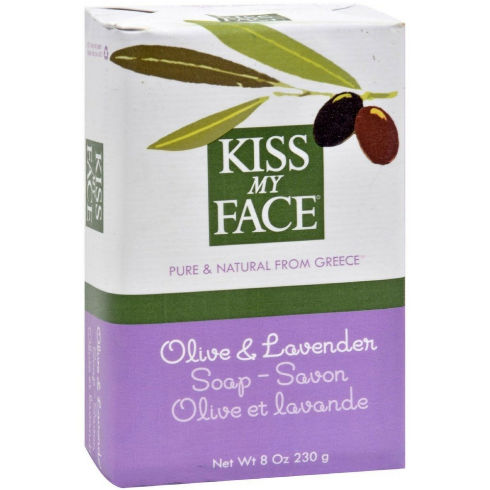Kiss My Face Olive Oil & Lavender Bar Soap 8 oz (Pack of 6)