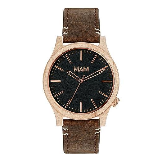 MAM Originals · Sparrow Tan | Reloj de hombre | Diseño minimalista y con carácter | Reloj de madera de arce sostenible | Alta calidad a buen precio: ...