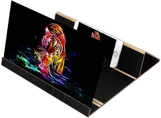 GH&YY Amplificador Smartphone Universal Celular Pantalla HD Movie Video Amplificador con Soporte Plegable Soporte para iPhone y Android Telefono movil,Black: Amazon.es: Hogar