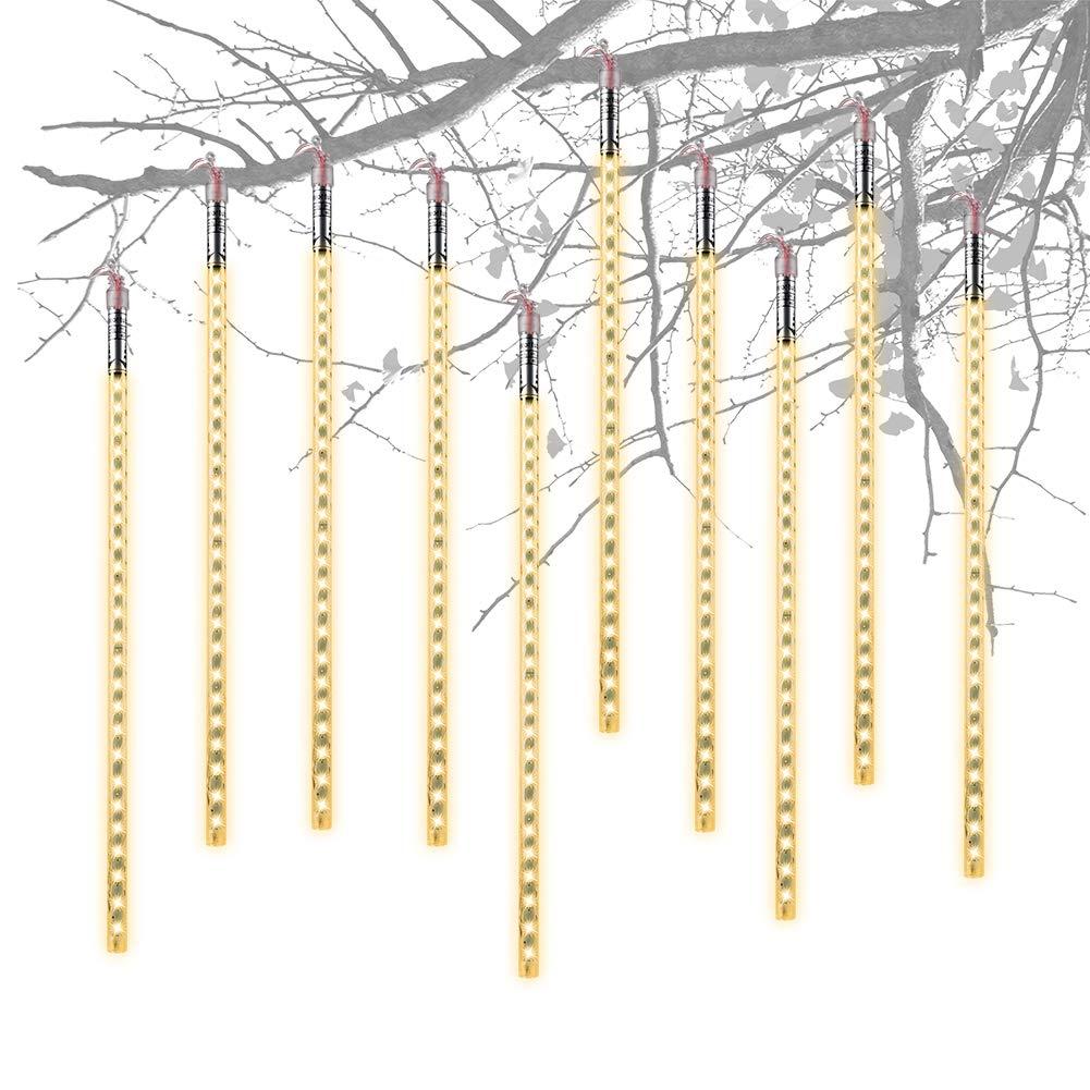 Guirnalda Luces Exterior, 10 Tubo 40cm 480 LEDs IP65 Meteoros Lluvia Luces Impermeable luz Navidad, Impermeable Iluminacion Jardin Decorativas Fiestas (Azul) TTKTK