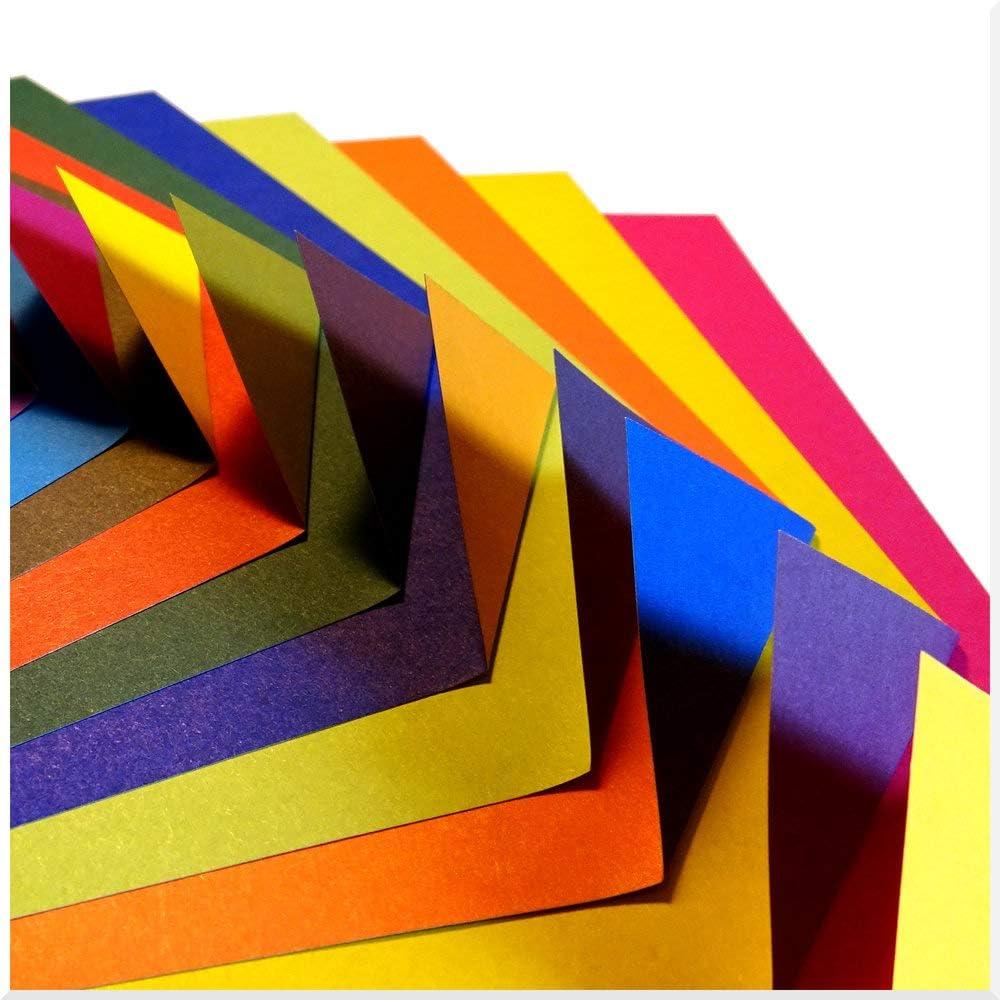 Folded Square Origami – Conjunto de Regalo de Papel para Papiroflexia | 200 Hojas, 15cm Cuadrado | Gran Colección de Colores