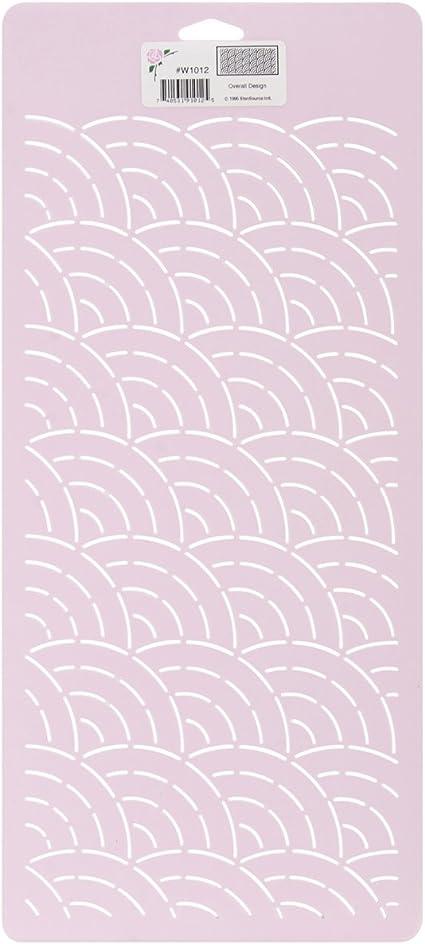 8-Inch x 18-Inch Overall Design Sten Source Quilt Stencils