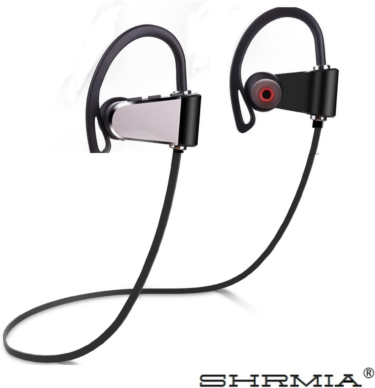 SHRMIA Bluetooth Headphones – Ergonomic Design Wireless Headphones - Wireless Sport w/Mic - IPX7 Waterproof Rating - CVC 6.0 Noise Cancellotion for The Best Sound Quanlity - Affordable!