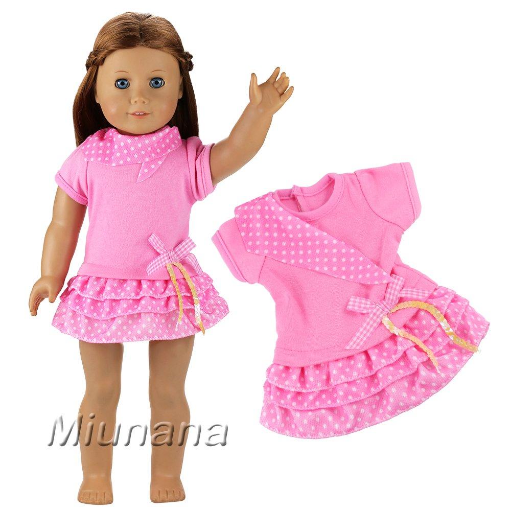 Miunana Kleidung Kleider Dress Clothes Puppen Fashion für 46-50cm ...