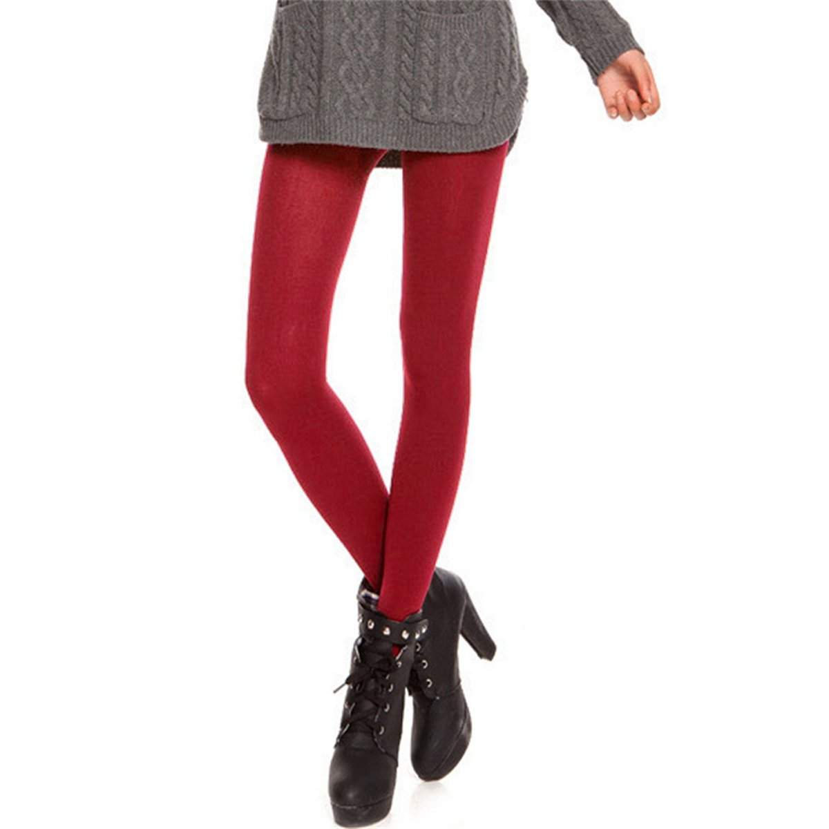 FUNOC Women's Super Opaque Control Pantyhose - Top Tights Velvet Stockings US*227860601