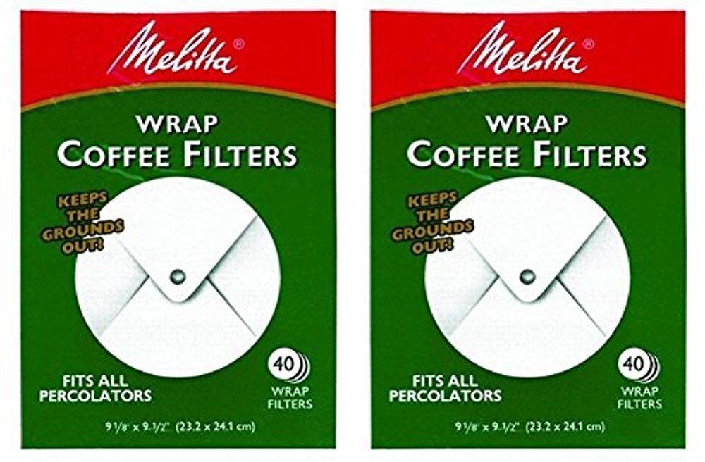 .com: melitta white wrap around coffee filter for percolator ...
