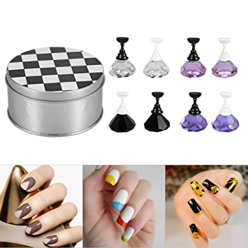 Amazon Beauty Nail Art Holder Strong Chess Board Magnetic