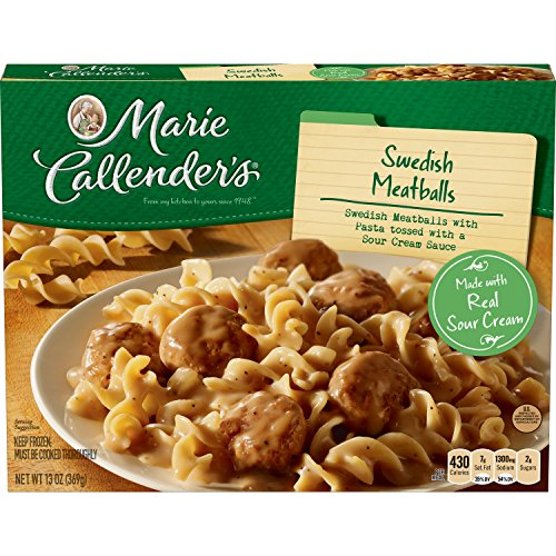 Marie Callender's Frozen Dinner, Swedish Meatballs, 13 Ounce