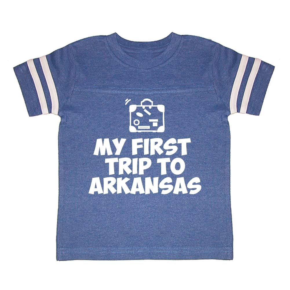 Mashed Clothing My First Trip to Arkansas Toddler//Kids Sporty T-Shirt